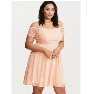 Torrid | Lace Off The Shoulder Dress.